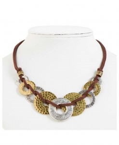 Silver and Gold Loop Necklace