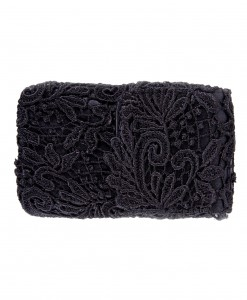 Black Lace Cell Phone Bag with Chain