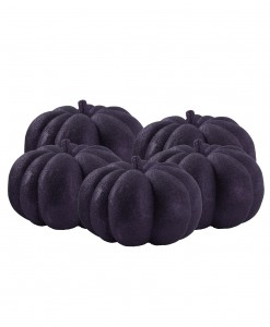 36 Piece Black Glitter Mini Pumpkins