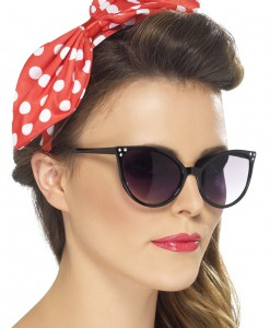 Red Polka Dot Pin-Up Bow on Headband