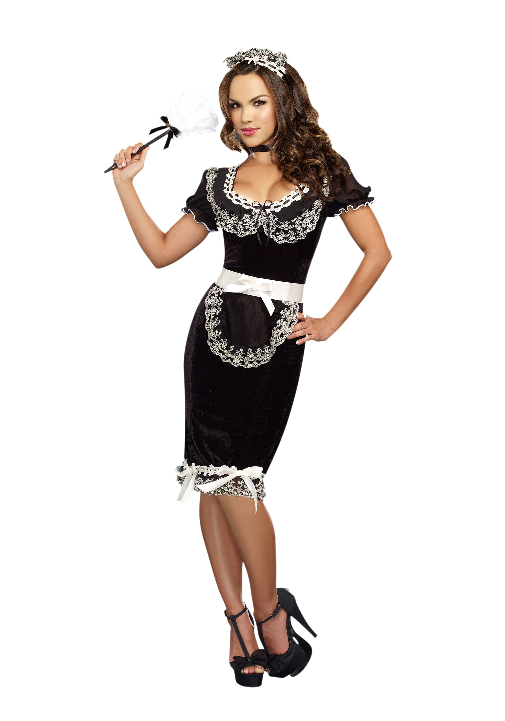 Women Keep Clean Maid Costume Halloween