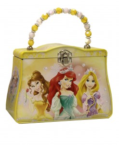 Yellow Disney Princesses Tin Purse