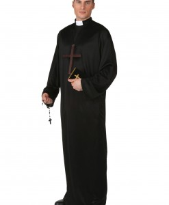 Plus Size Pious Priest Costume