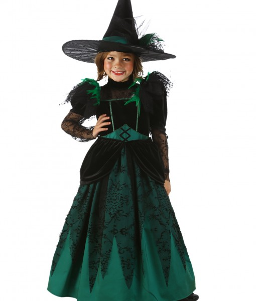 Girls Emerald Witch Costume