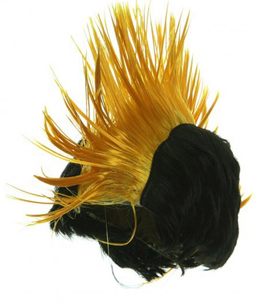 Black and Yellow Mohawk Wig