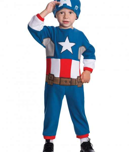 Toddler Captain America Fleece Jumpsuit