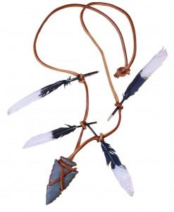 Native Warrior Necklace Arrow Head