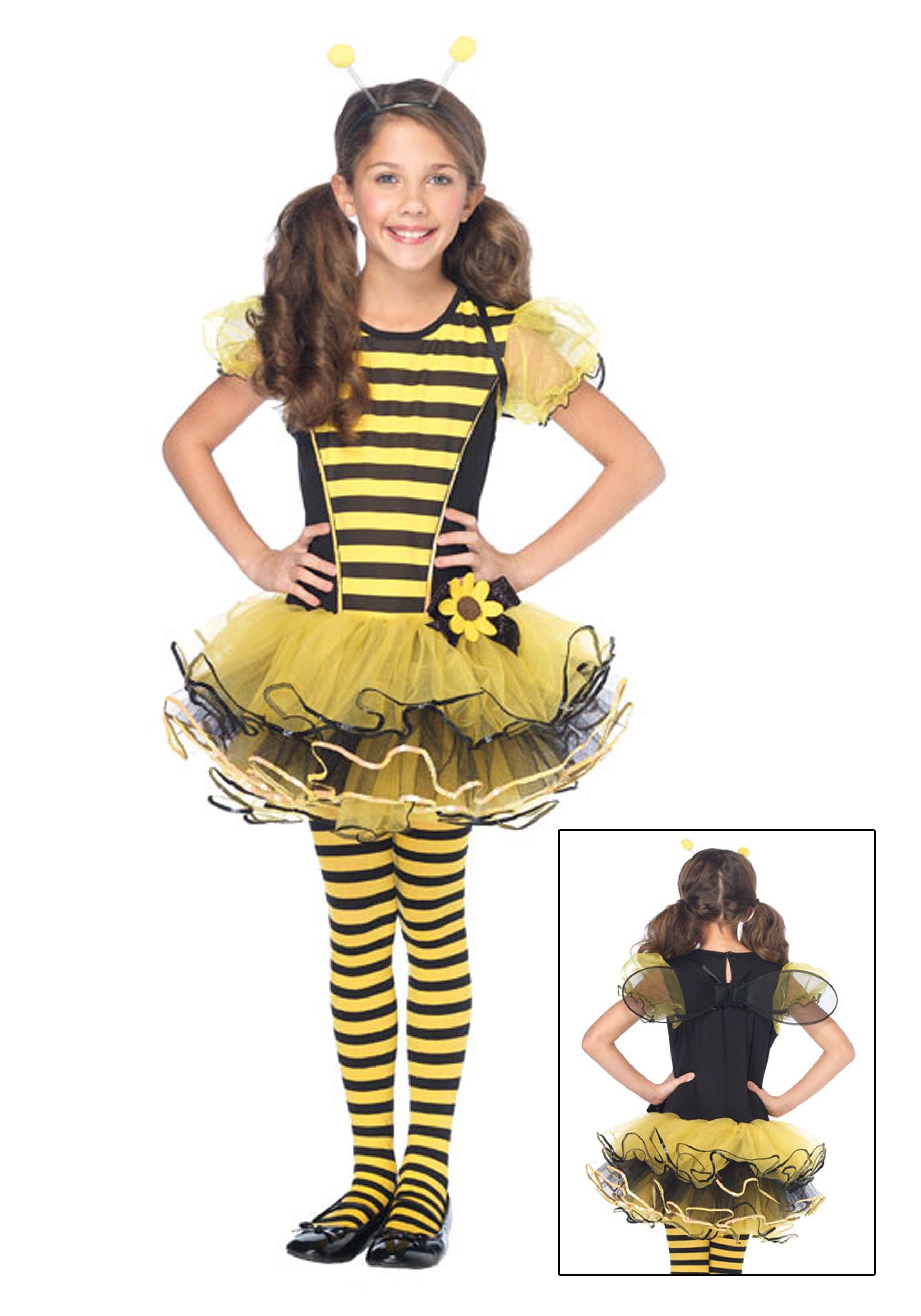 Girls Buzzy Bee Costume  sc 1 st  Halloween Costumes : a bee costume  - Germanpascual.Com