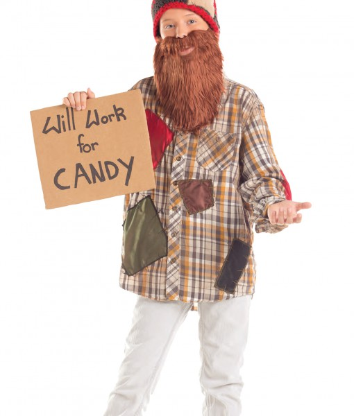 Child Will Work For Candy Hobo Costume