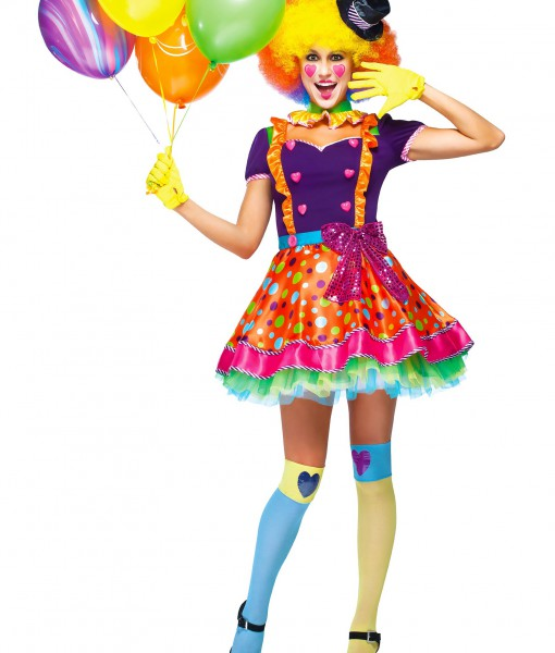 Womens Party Clown Costume