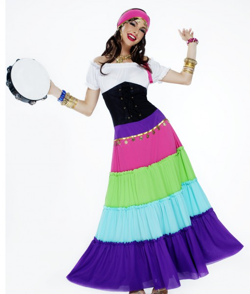 Women's Vibrant Gypsy Costume