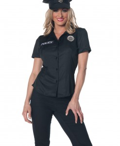 Women's Plus Size Police Shirt