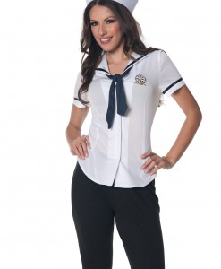 Women's Plus Size Sailor Shirt