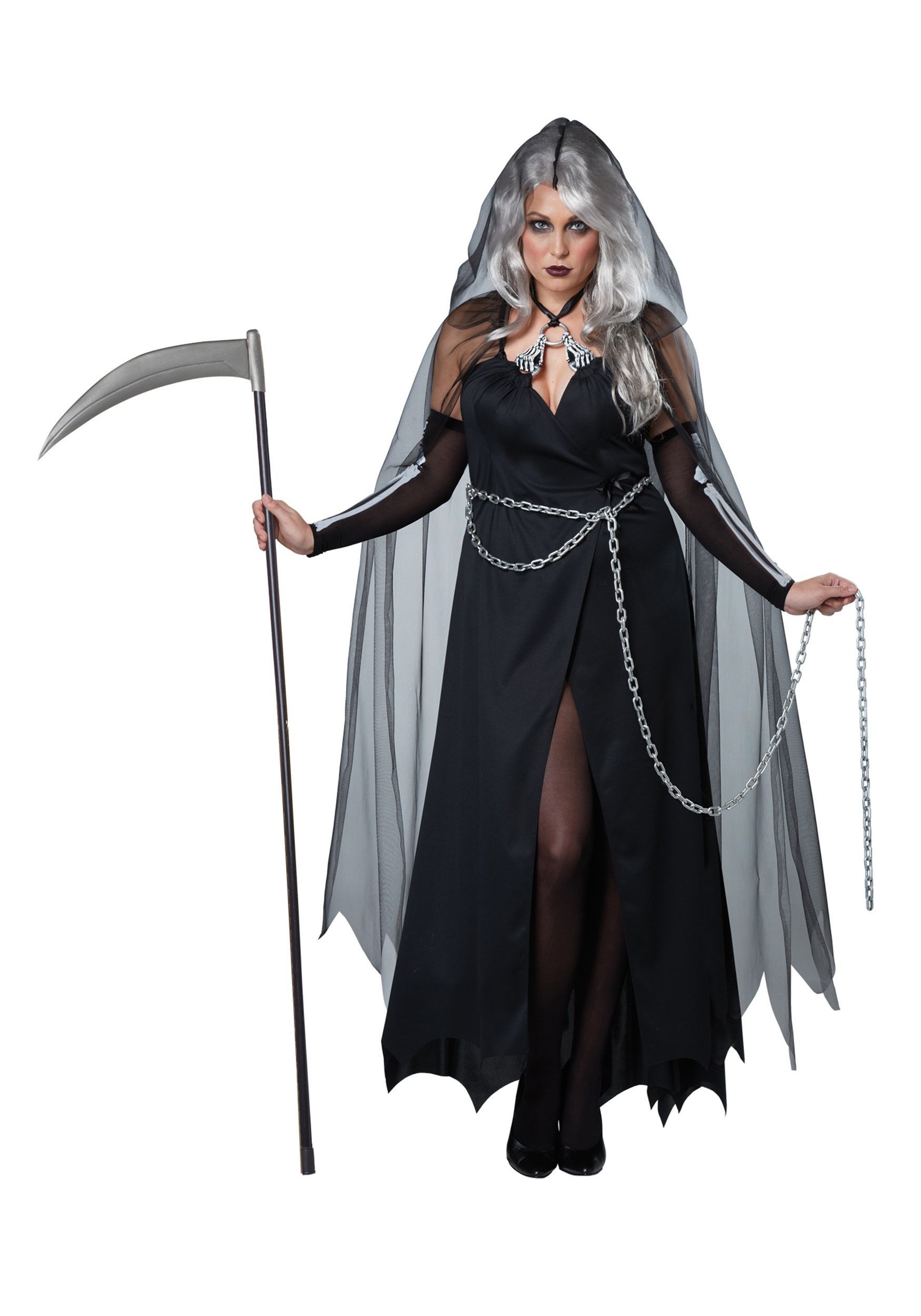 women's plus size lady reaper costume - halloween costume ideas 2018