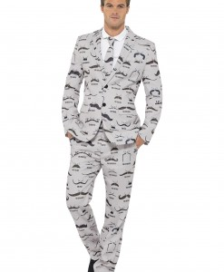 Mens Moustache Suit