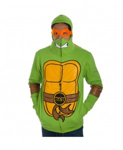 TMNT Full Zip Hoodie with Mask