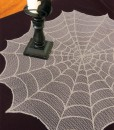 Ghostly Grey Round Table Topper
