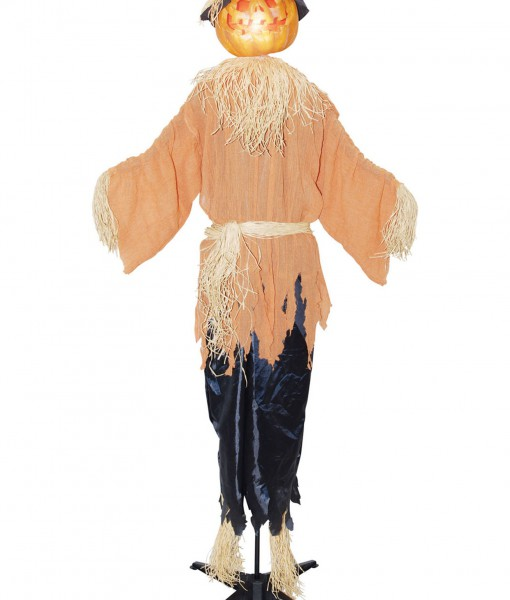 Standing animated pumpking scarecrow halloween costume for Animated scarecrow decoration