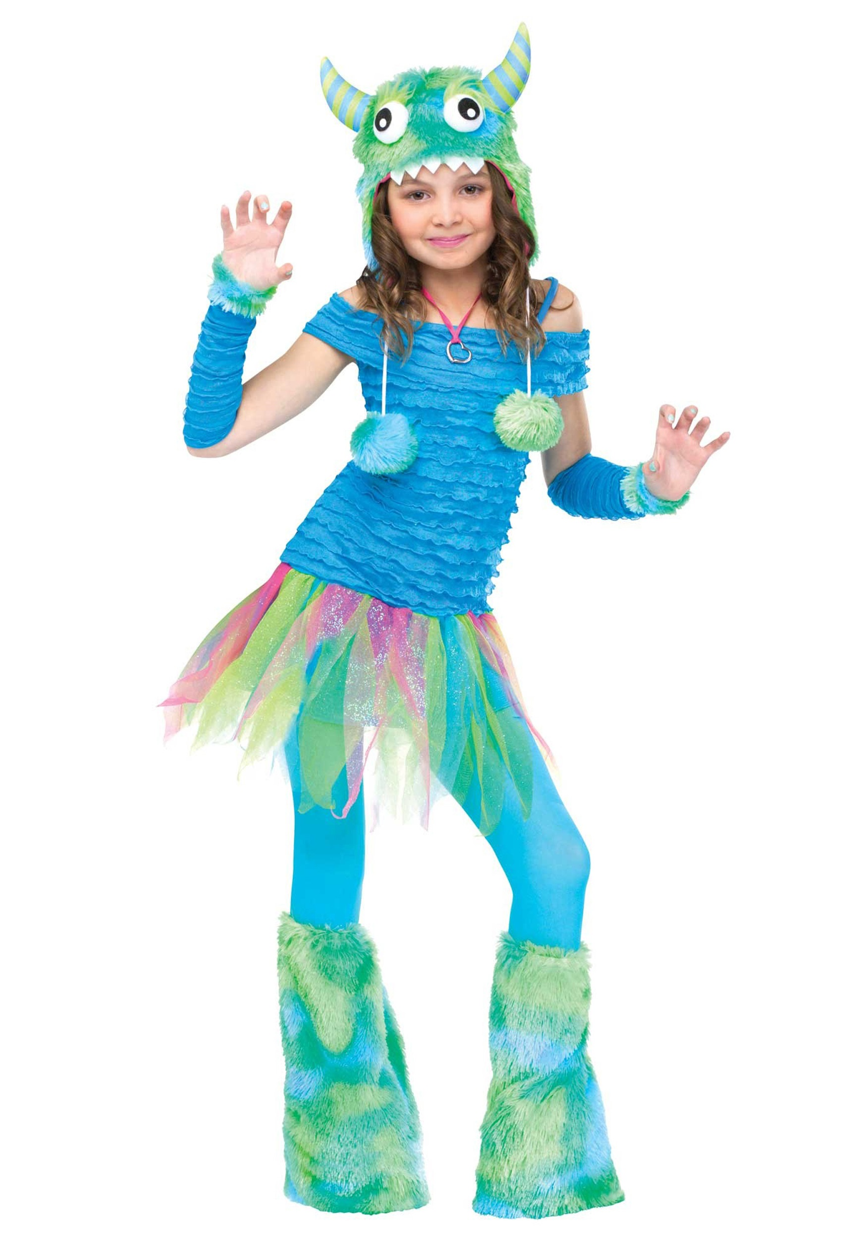 girls blue beastie monster costume halloween costume ideas 2018