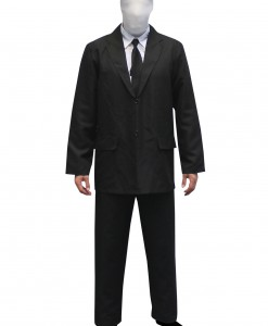 Mens Slenderman costume Morphsuit