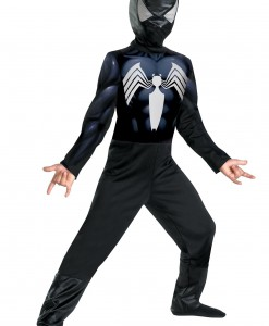 Child Black Suited Spiderman Costume