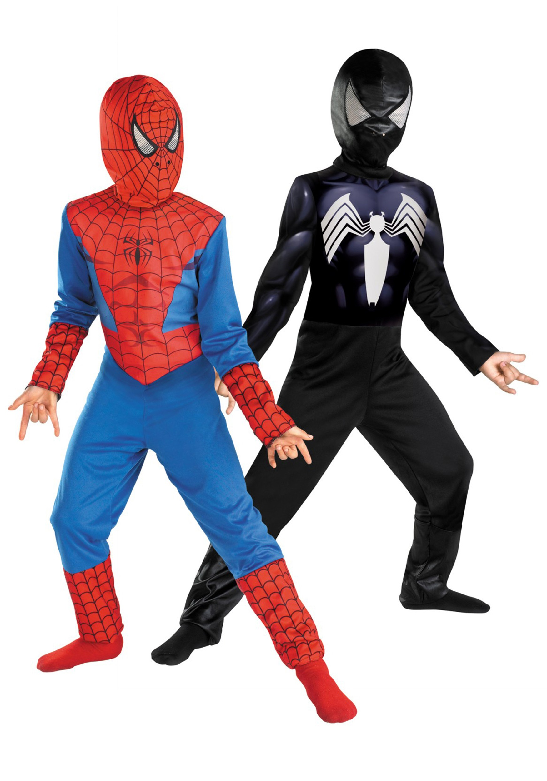 kids reversible spiderman costume