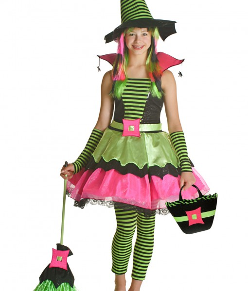 Tween Spiderina Witch Costume