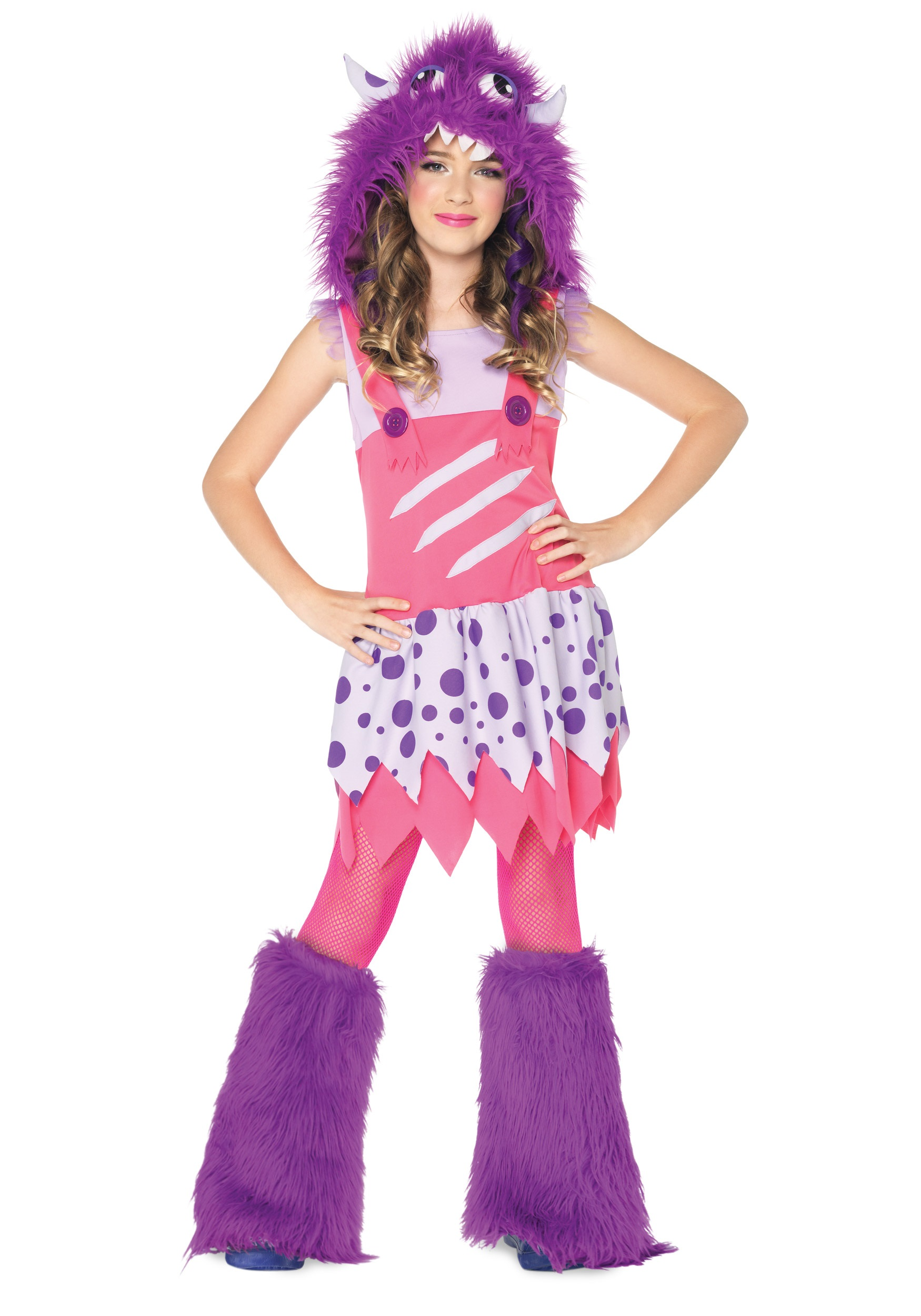 Girls Furball Monster Costume  sc 1 st  Halloween Costumes : cool teenage halloween costumes  - Germanpascual.Com