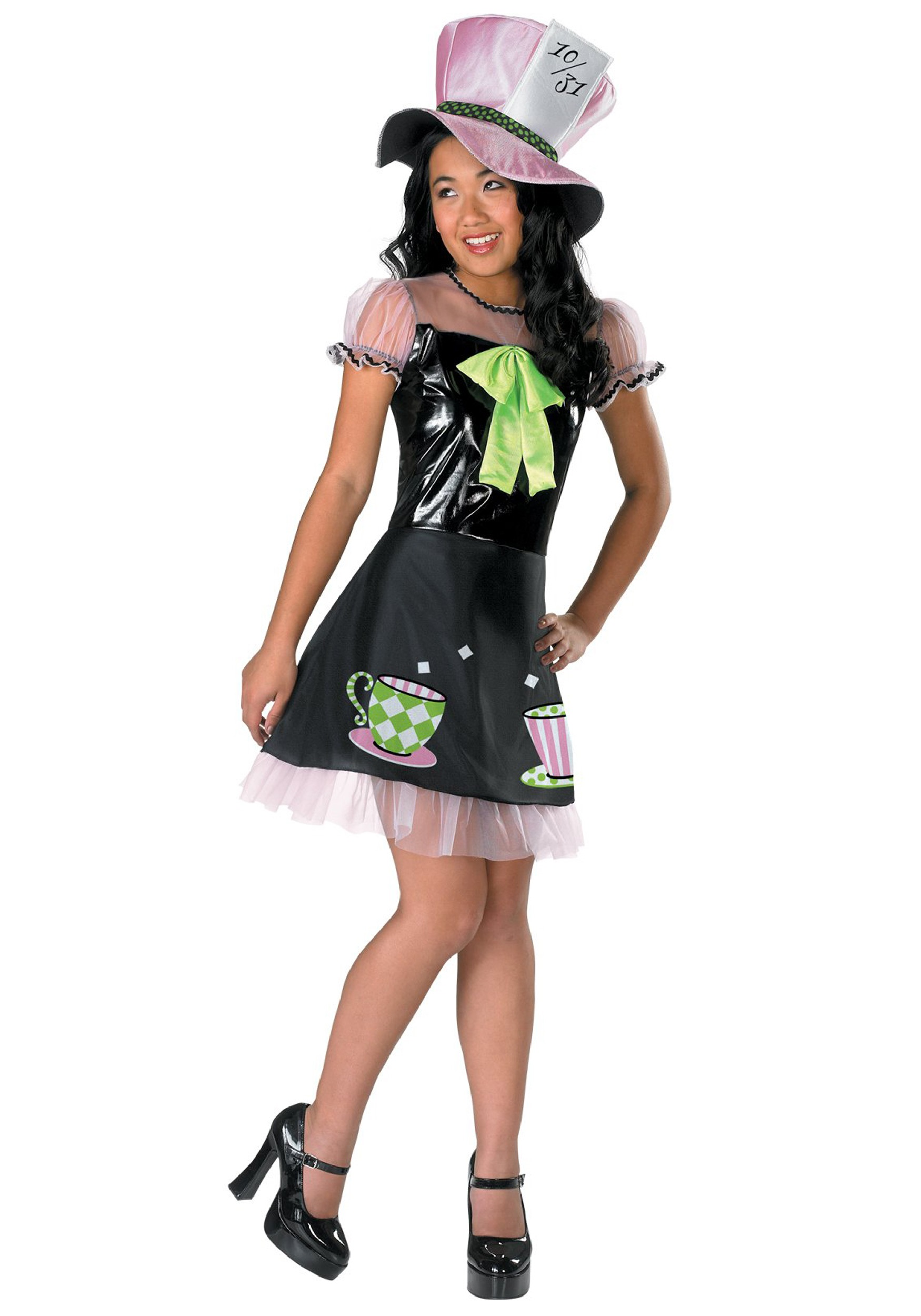 girls tea time mad hatter costume - halloween costume ideas 2018