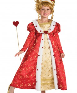 Girls Red Heart Princess Costume