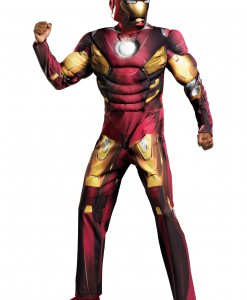 Adult Avengers Iron Man Muscle Costume