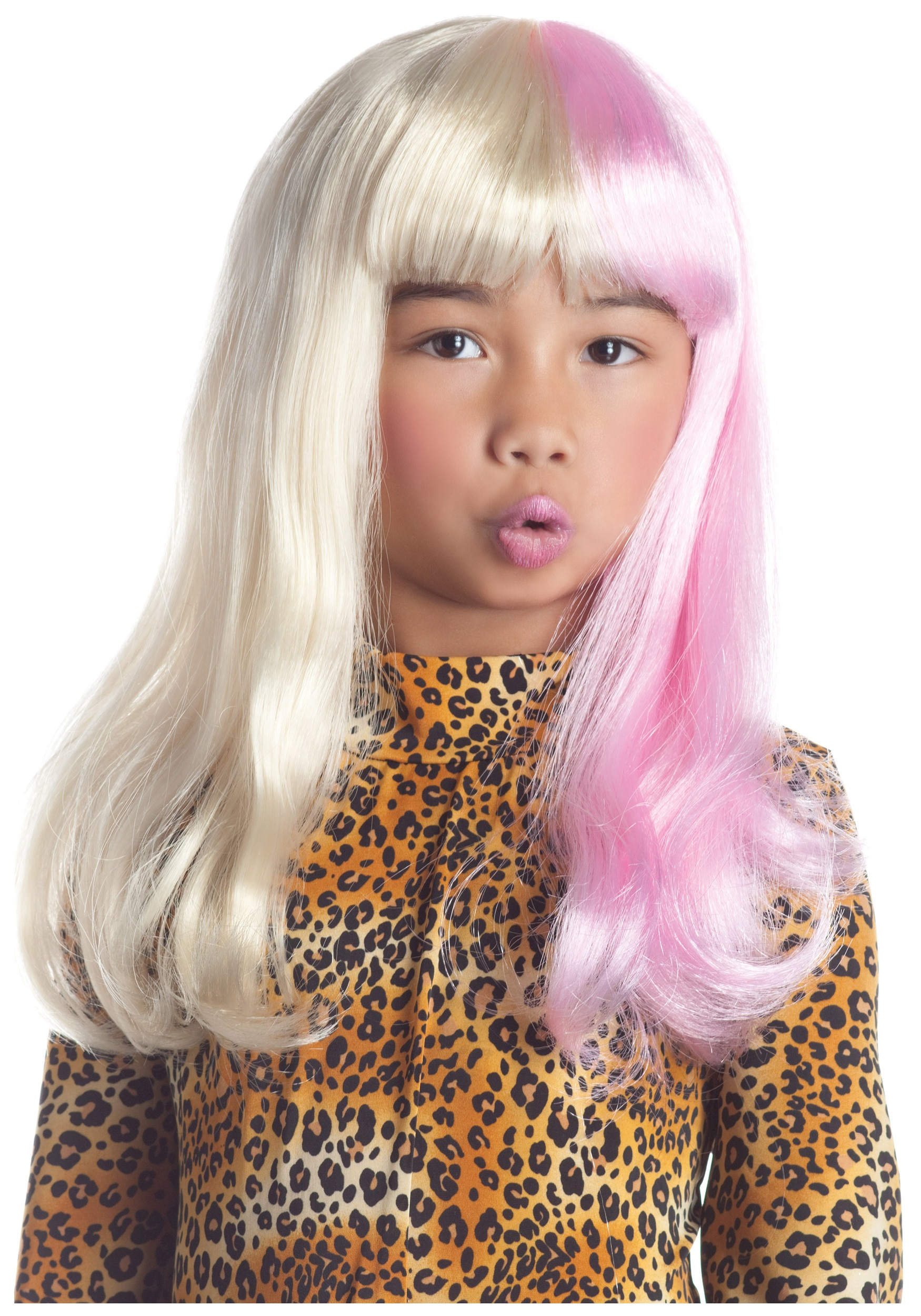 child pink and white diva wig - halloween costume ideas 2018