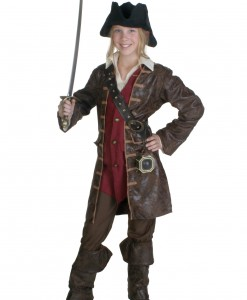 Teen Girls Caribbean Pirate Costume