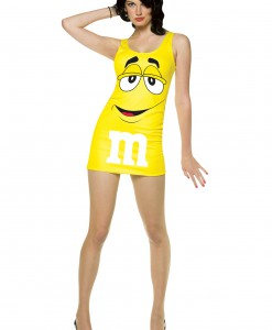 Womens Yellow M&M Costume