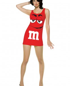 Womens Red M&M Costume