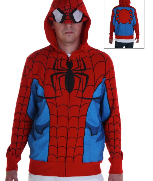 Adult Spiderman Costume Hoodie