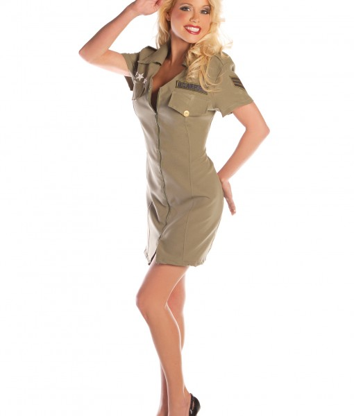 Sexy Fly Girl Military Costume