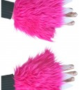 Child Pink Furry Hand Covers