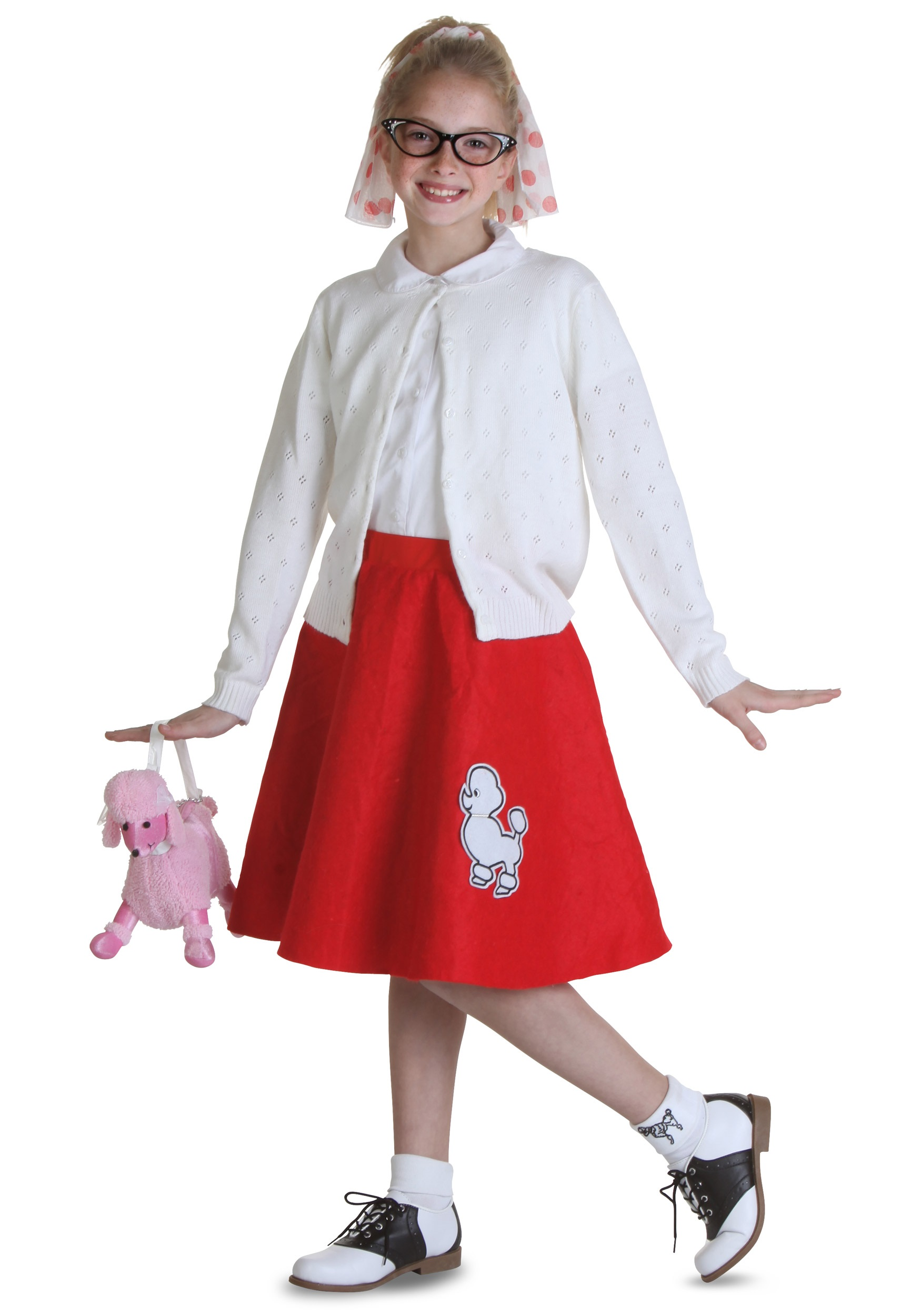 Child Red 50s Poodle Skirt  sc 1 st  Halloween Costumes & Child Red 50s Poodle Skirt - Halloween Costume Ideas 2016
