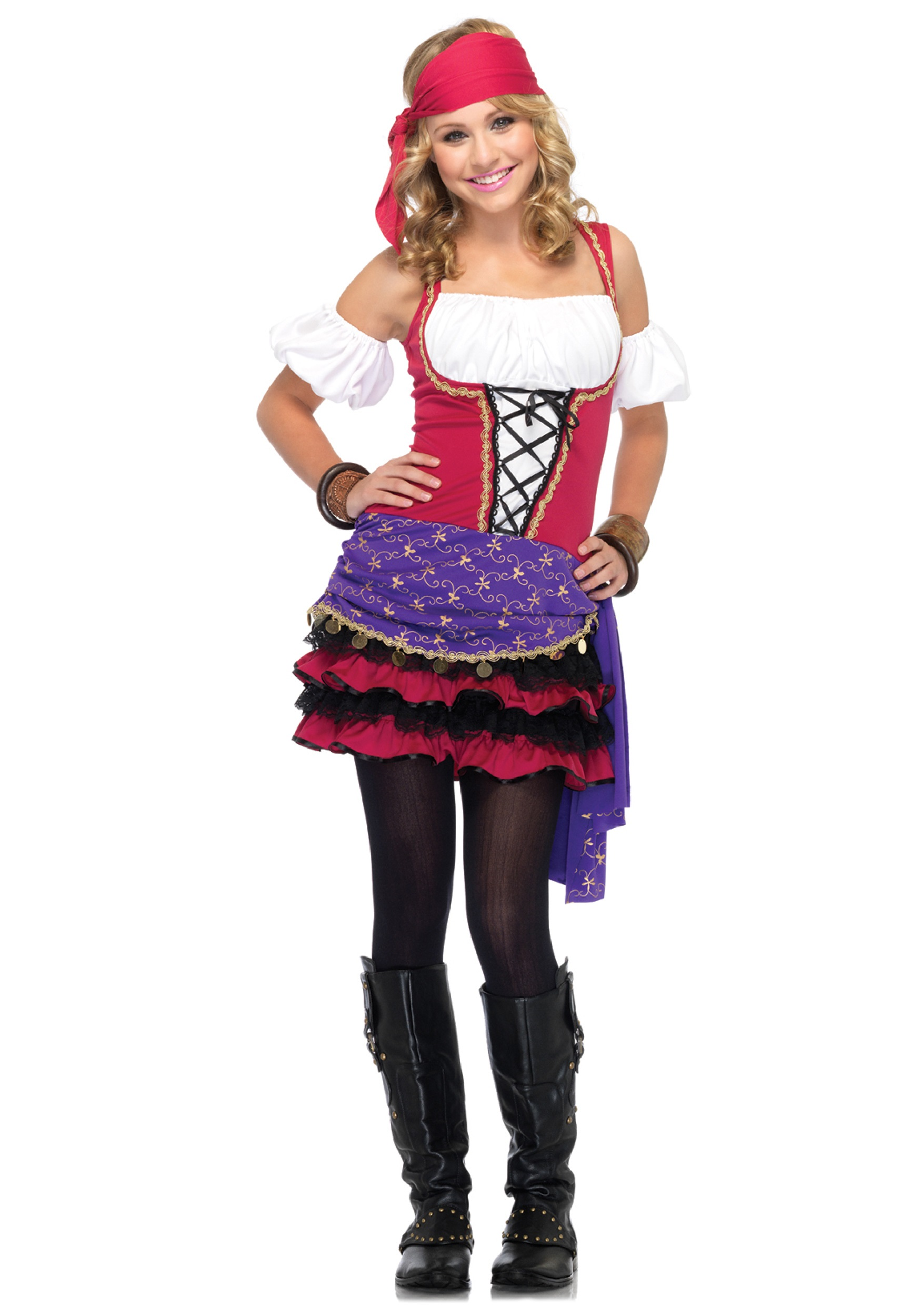 teen crystal ball gypsy costume