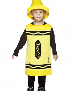 Toddler Yellow Crayon Costume