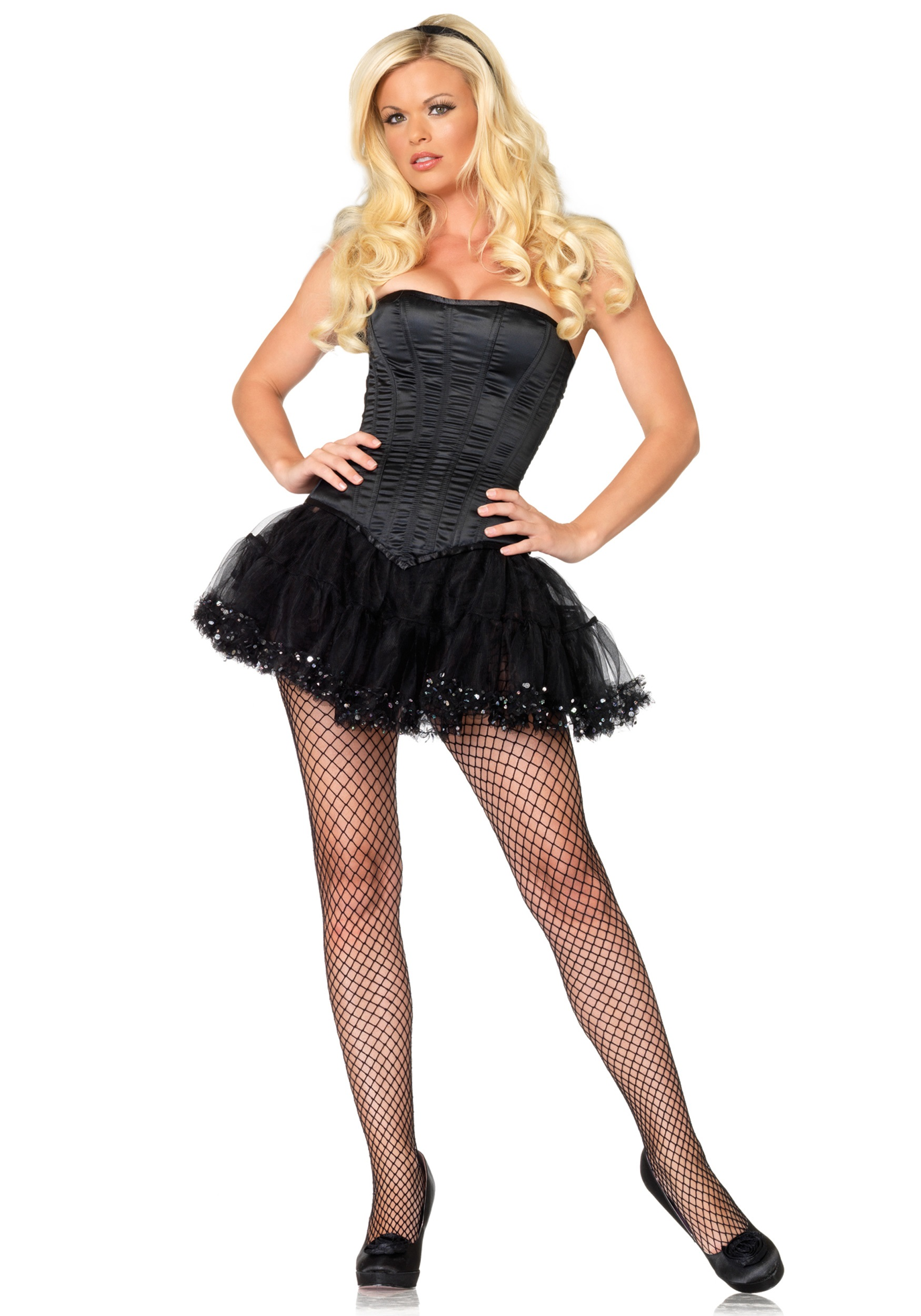 women's black corset - halloween costume ideas 2018