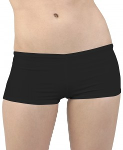 Plus Size Black Hot Pants