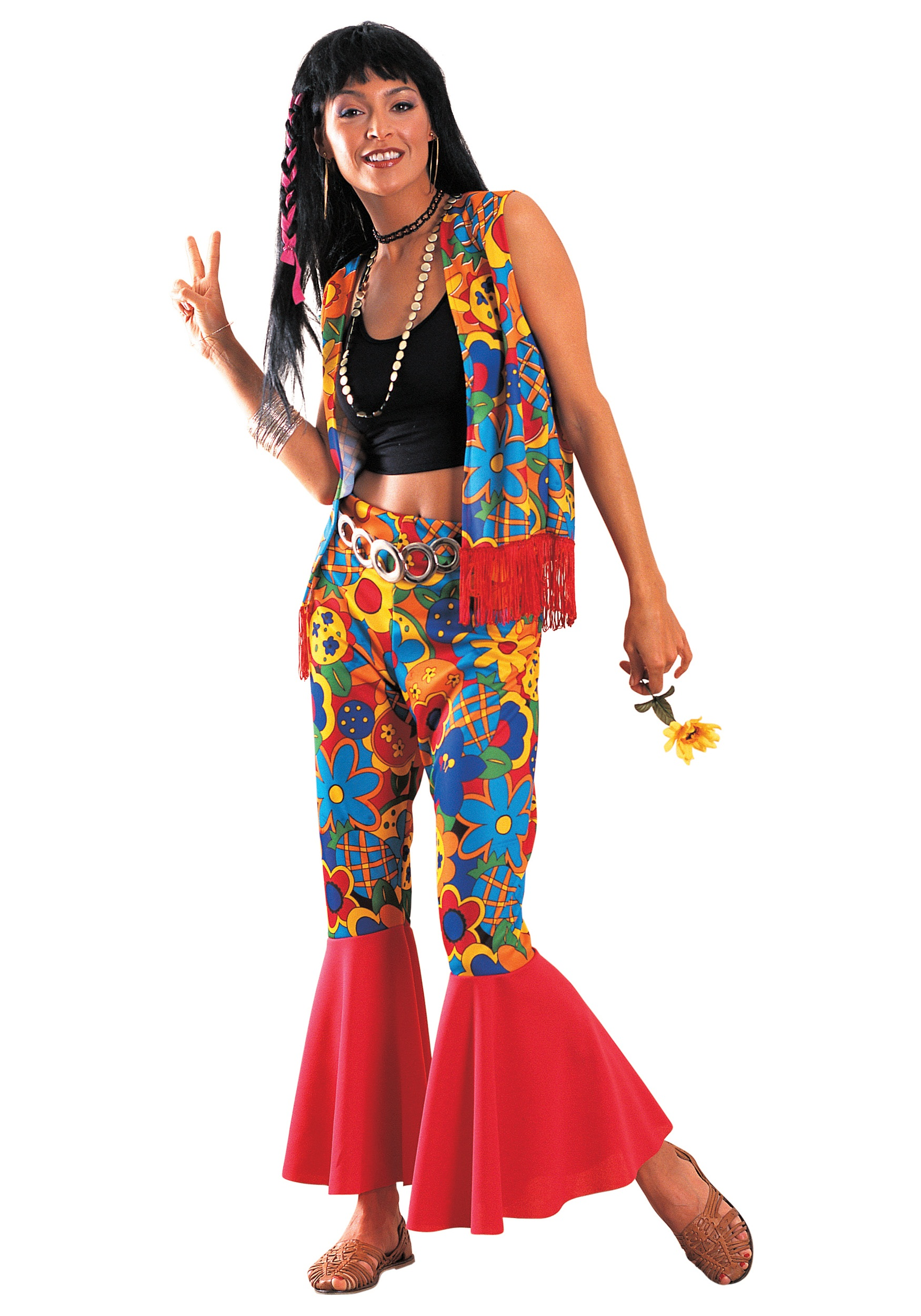 Womens Flower Power Costume