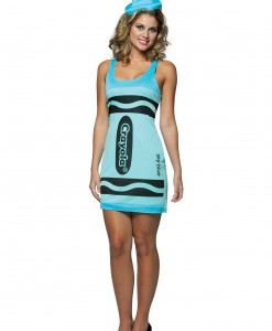 Sexy Sky Blue Crayon Dress