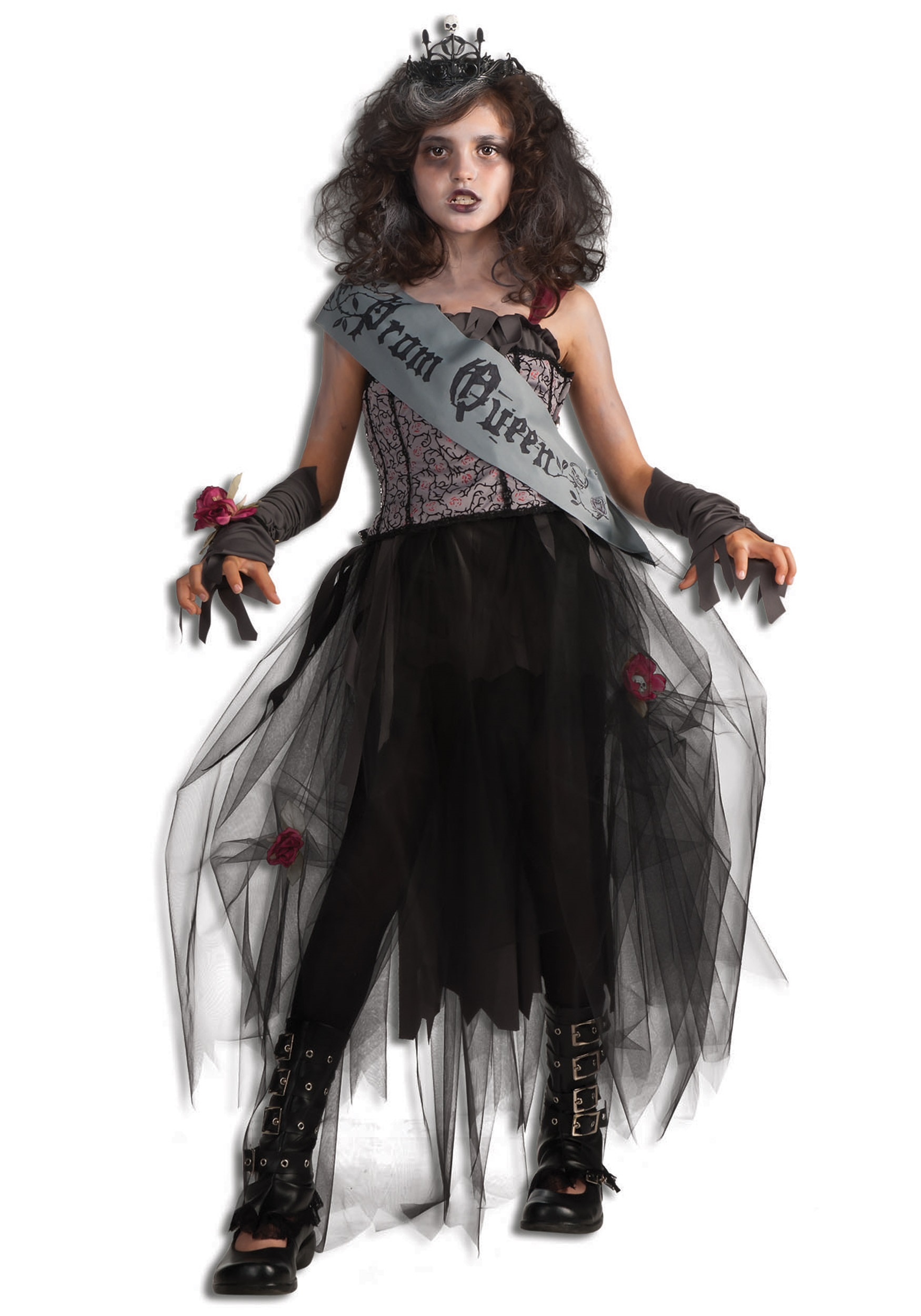 girls goth prom queen costume - halloween costume ideas 2018