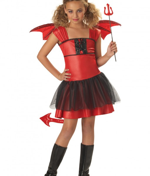 Girls Darling Devil Costume