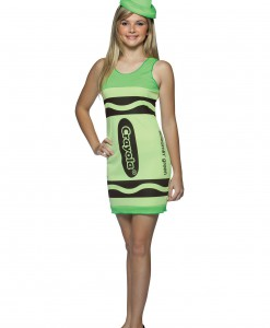 Teen Screamin' Green Crayon Dress