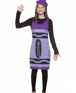 Tween Wisteria Crayon Dress
