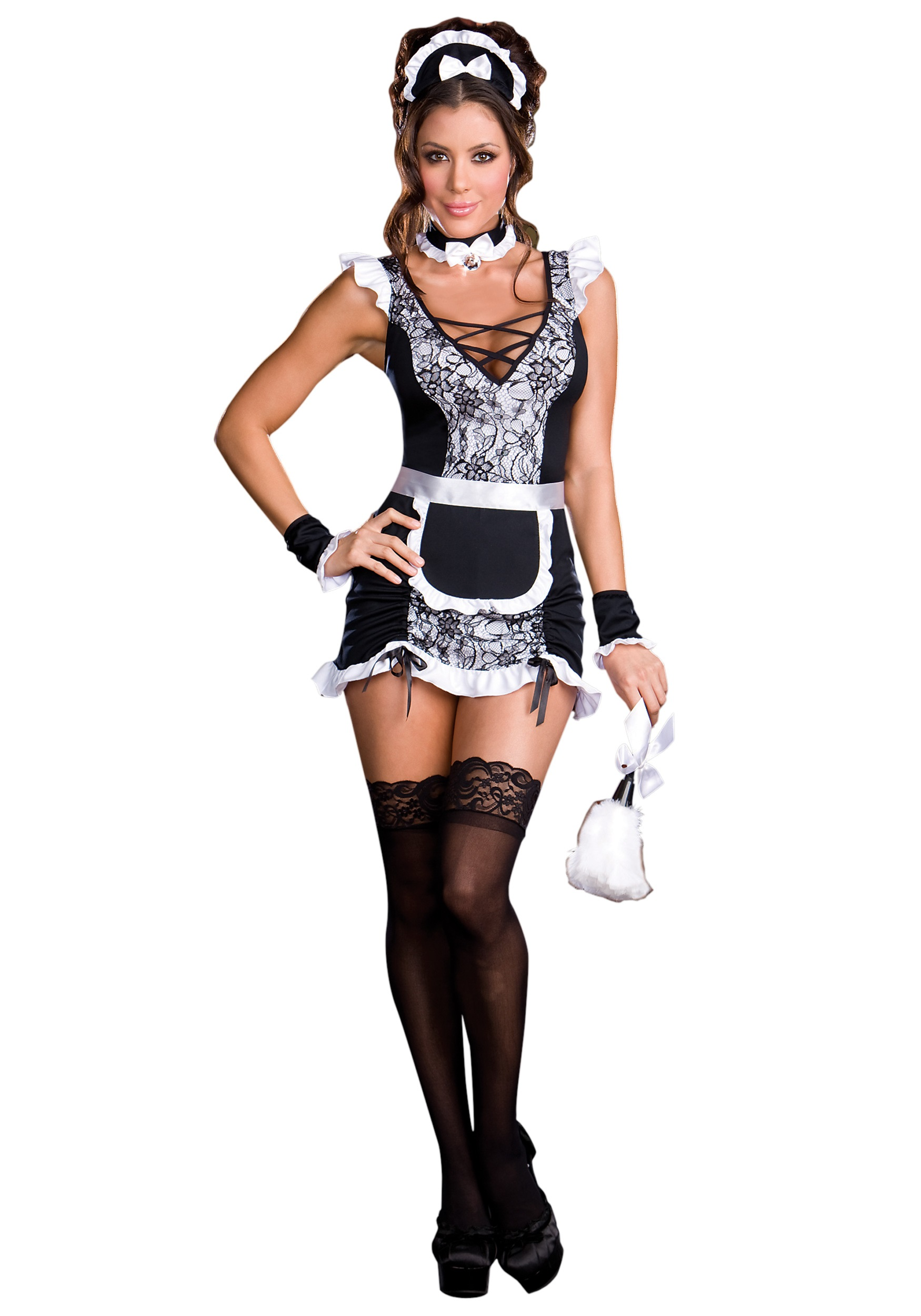 costumes Young maid teens french in